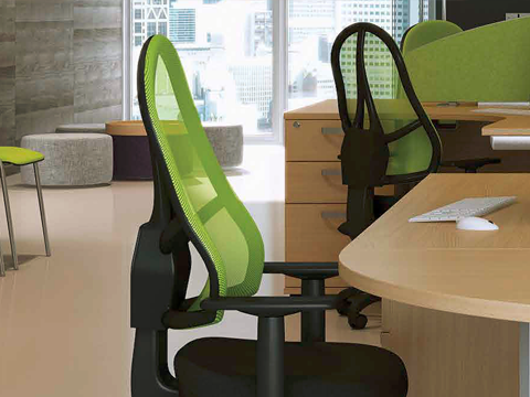 Lime green office chairs
