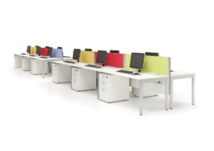 Multicoloured desk dividers