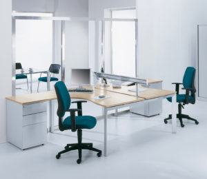 Teal office chairs