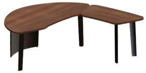 Shaped desk