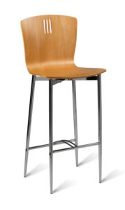 Pelon Wooden Stool with Back