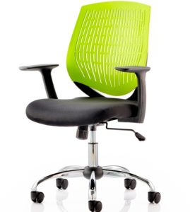 Lime vented back chair
