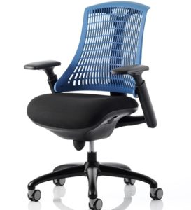 Blue vented back chair