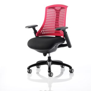 Red vented back chair
