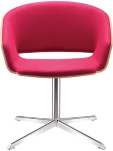 Pink and chrome office chair