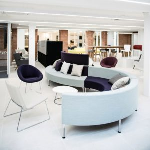 S shaped office seating