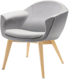 Grey visitor chair