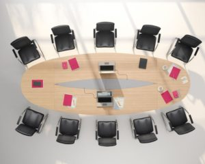 Oval large conference table