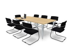 Wooden meeting conference table