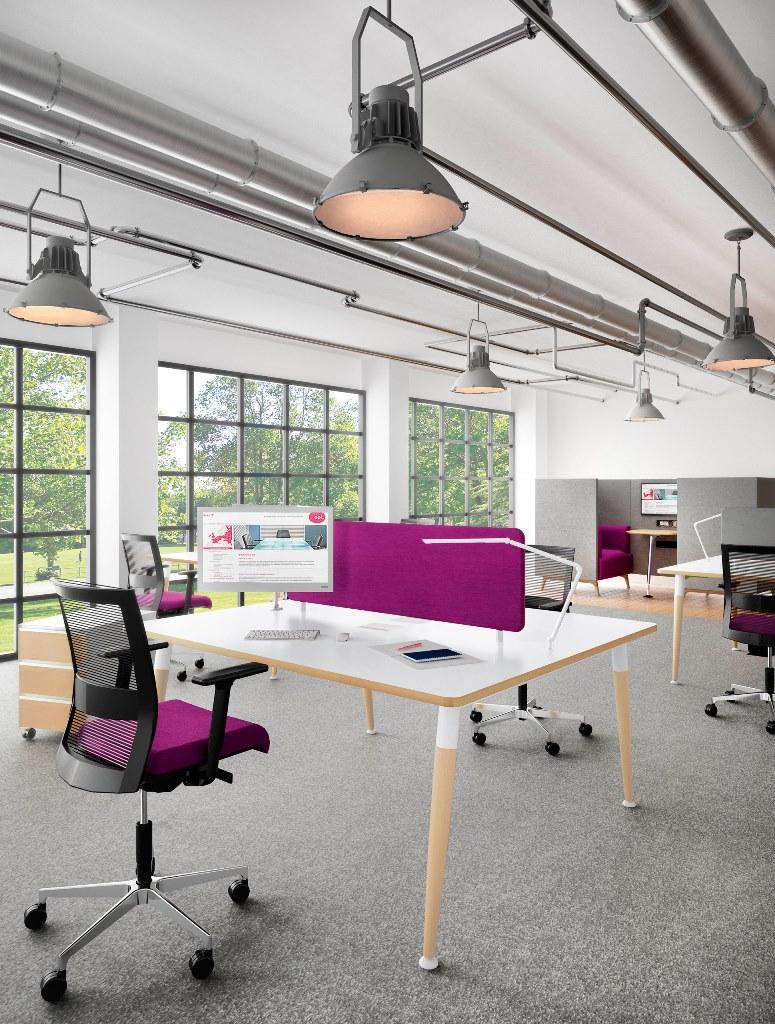 Office desks chairs furniture range weaver bomfords for Industrial office design