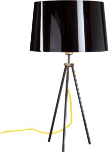 Black gloss table lamp