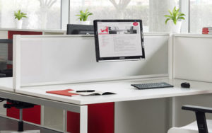 White gloss office cubicle