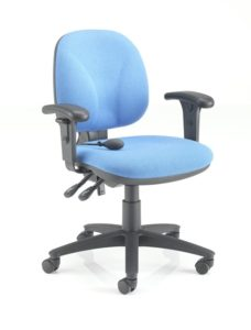 Powder blue operator chair