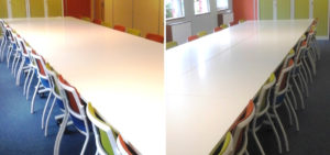 Colourful office installation