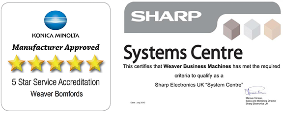 konica minolta and sharp manufacturer approved